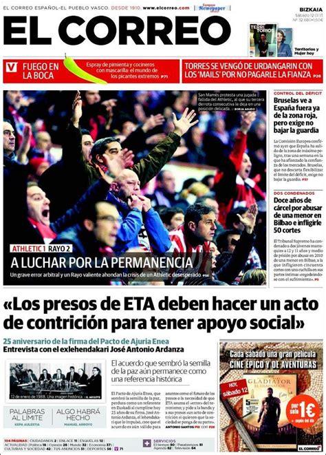 diario el correo noticias de pasco 17 mejores im 225 genes sobre 12 01 2013 portadas peridicos