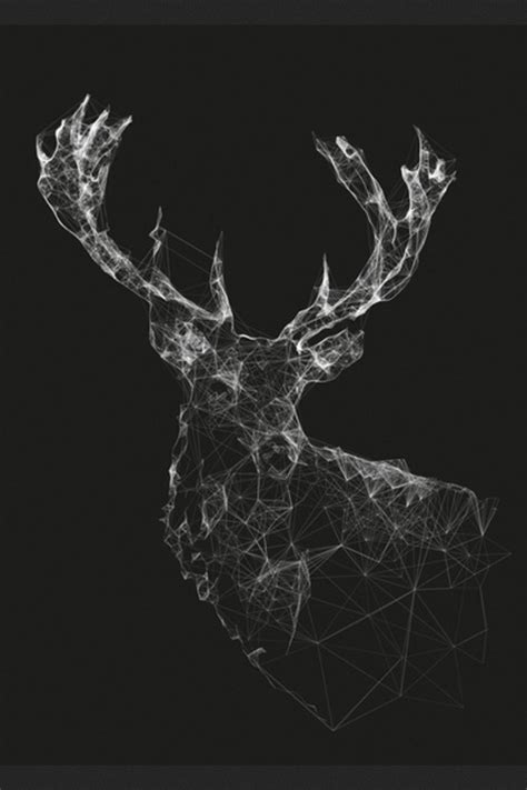 deer pattern iphone wallpaper geometric deer