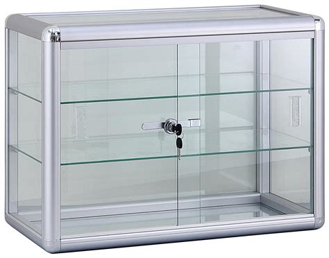 used lockable glass display store display furniture with glass shelves locking cabinet