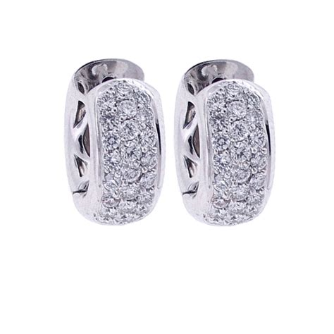 0 34 Cts White Si2 huggies earrings white gold gold huggie earrings