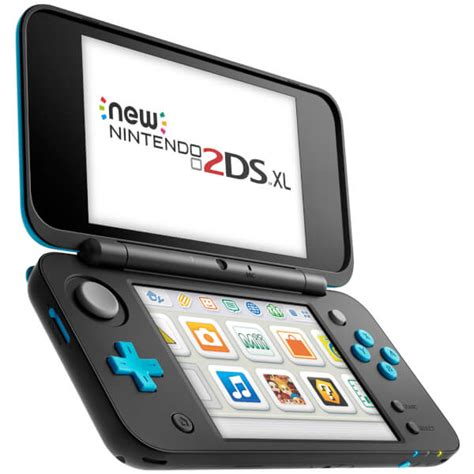 nintendo ds 2 console new nintendo 2ds xl black and turquoise nintendo