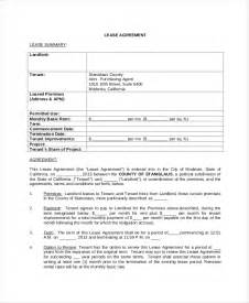 Standard Commercial Lease Agreement Template Free Lease Agreement Free Pdf Word Documents Download
