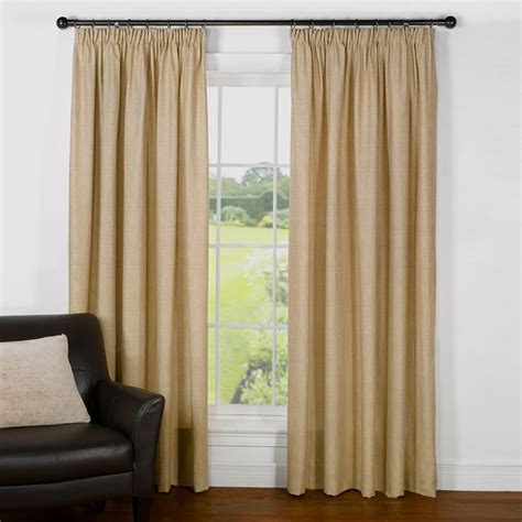 cotton draperies rattan natural cotton lined pencil pleat curtains