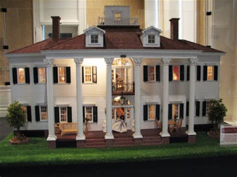 the one with the doll house a one of a kind gone with the wind dollhouse the exterior fashioned after twelve oaks