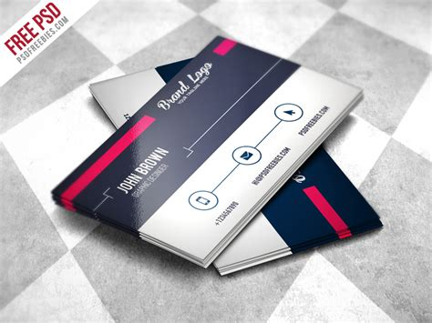 modern business card design templates modern business card design template free psd