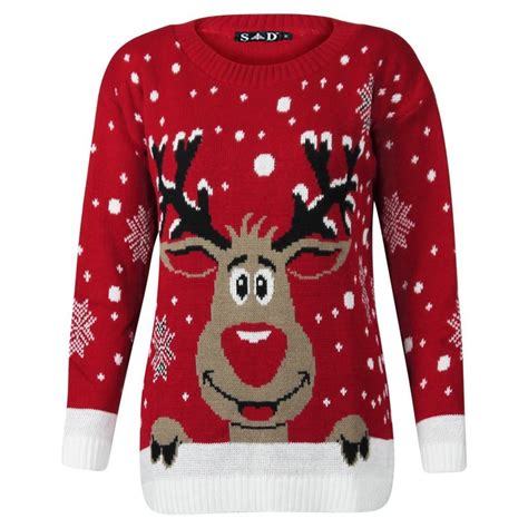 images of christmas jumpers womens reindeer jumper in red christmas jumpers
