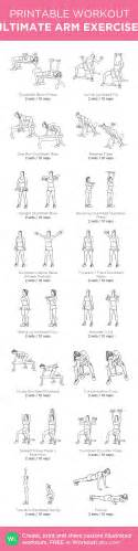 ultimate arm exercises my custom printable workout by