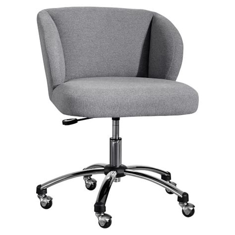 Gray Desk Chair by Highlands Gray Wingback Desk Chair Pbteen