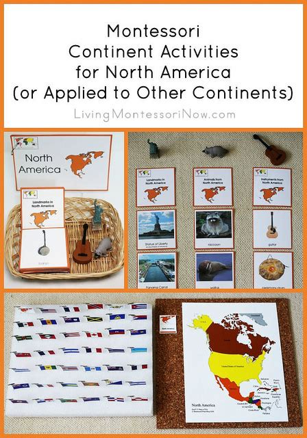 montessori printables animals montessori continent activities for north america or