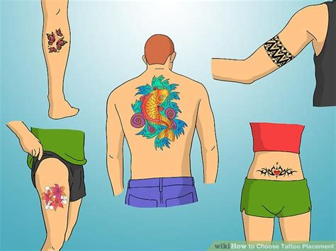 tattoo placement for low pain tolerance 3 easy ways to choose tattoo placement with pictures