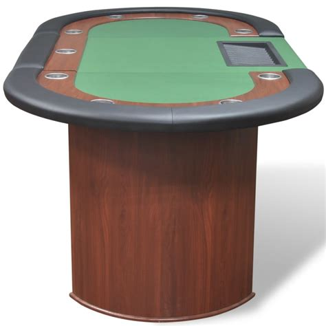 vidaxl co uk 10 player poker with dealer area and