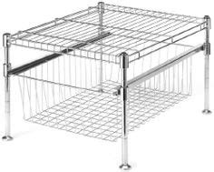chrome and gray basket sliding system for base cabinets kitchen dining cabinet organizers on pinterest base