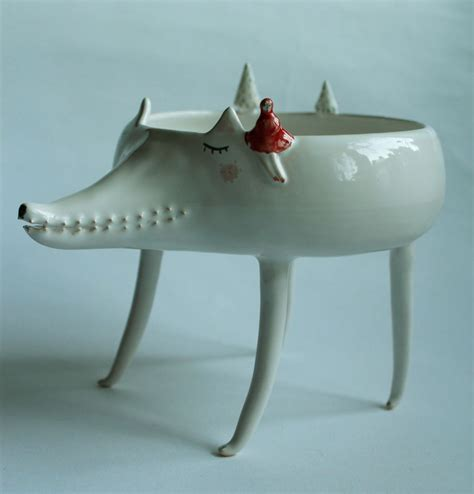 Handmade Animals - handmade animal pottery by artist clay opera