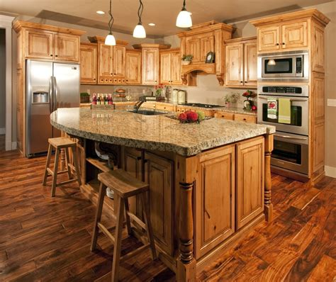 hickory kitchen island out of the woods custom cabinetry home home