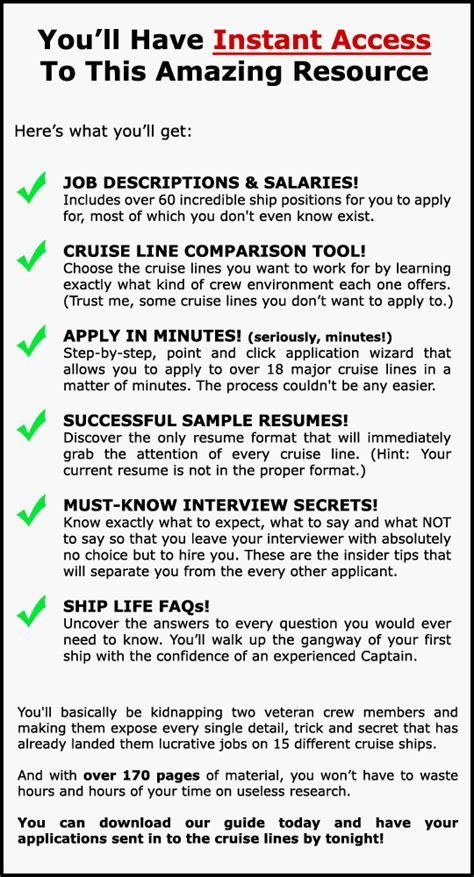ship jobs no experience cruise jobs a lucrative and fun experience cruise