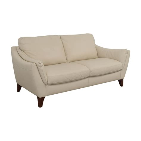 Raymour And Flanigan Leather Sofas 80 Raymour Flanigan Raymour Flanigan Natuzzi Editions Beige Leather Two Cushion Sofa