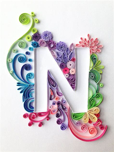How To Make Paper Quilling Letters - the 25 best ideas about quilling letters on