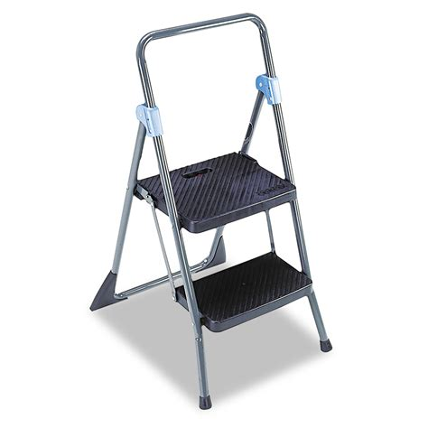 2 Step Folding Stool by Commercial 2 Step Folding Stool By Cosco 174 Csc11829ggb