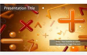 math powerpoint template 5057 free math powerpoint