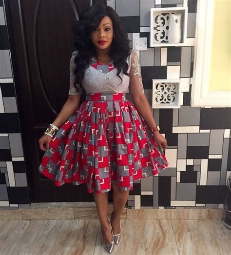 Simple Style For Ankara Short Gown