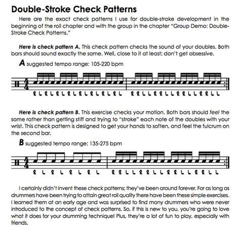 Check Pattern Drum | drummerworld tommy igoe lifetime double stroke check