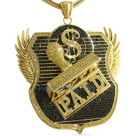 paid custom cz micro pave hip hop pendant discontinued