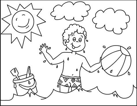 Summer Coloring Pages For Kindergarten preschool summer coloring pages coloring home