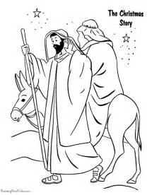 christmas story coloring pages