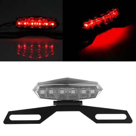 motorcycle license plate frame with led brake light motorcycle dirt bike led brake light license plate