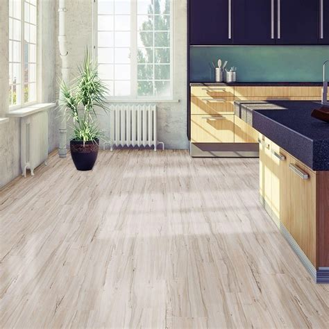 6 in x 36 in white maple resilient vinyl plank flooring
