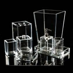 Lucite Bathroom Accessories Mike And Ally Clear Lucite Bath Accessories Flandbcom Lucite Bathroom Accessories Tsc