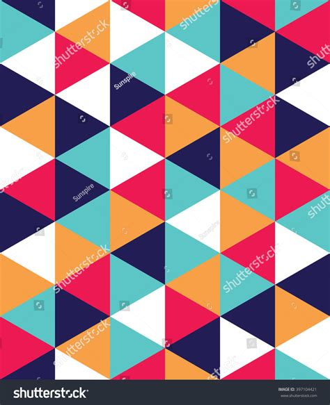 triangle color pattern vector vector modern seamless colorful geometry triangle stock