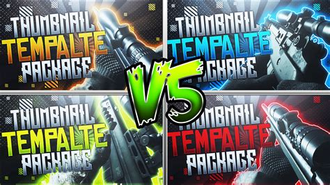 photoshop thumbnail template modern warfare thumbnail template pack v5 by