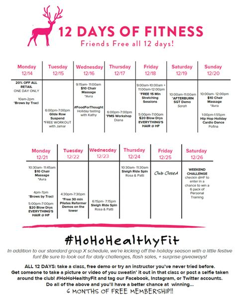 12 days of 12 days of fitness hohohealthyfit healthyfit