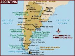 argentina in south america map map of argentina