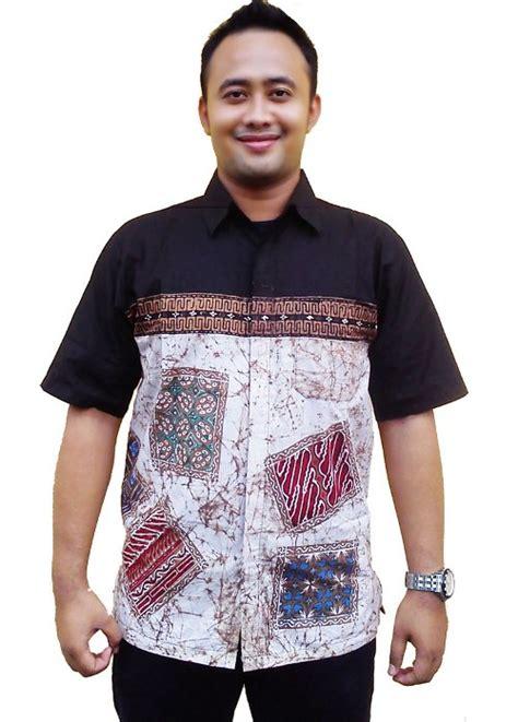 Kemeja Batik Modern Pria Lengan Pendek Ls218 baju koko batik holidays oo