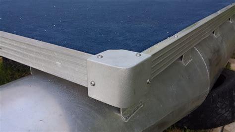 pontoon boat aluminum edging update pontoon rebuild project coming together forths