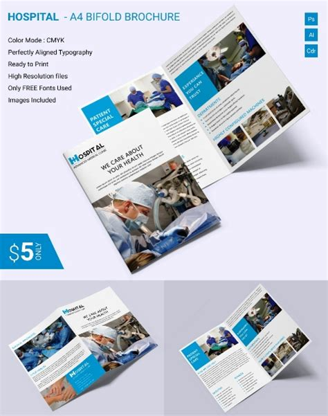 desain brosur rumah sakit desain brosur medis kesehatan klinik dan rumah sakit template