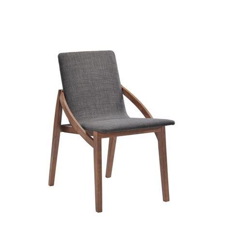 chaise bois et tissu lot 2 chaises design tissu et bois