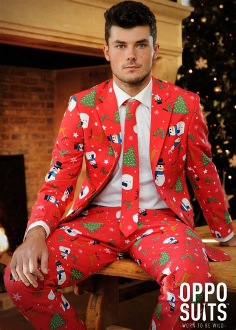 Xmas Pattern Suit | adult mens christmas pattern oppo suit costume
