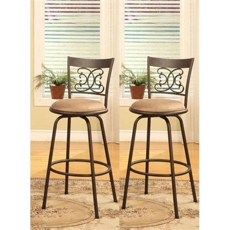 Target Upholstered Dining Room Chairs by Bronze Finish Scroll Back Adjustable Metal Swivel Counter