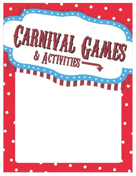 carnival sign template carnival signs template pictures inspirational pictures