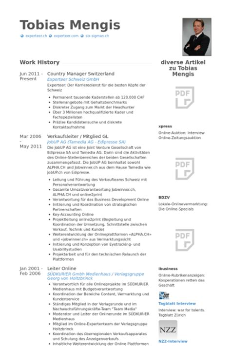cv layout switzerland country manager resume sles visualcv resume sles