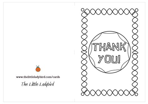 printable thank you cards to colour in 7 best images of coloring thank you cards printable kids
