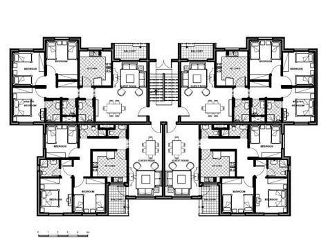 6 Unit Apartment Building Plans | apartment building design plans 8 unit apartment building