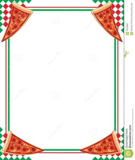 clipart per word pizza border stock illustration image of nutrition