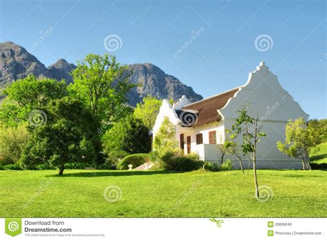 house plans cape town building plans somerset west traditional cape dutch house against mountains stock image