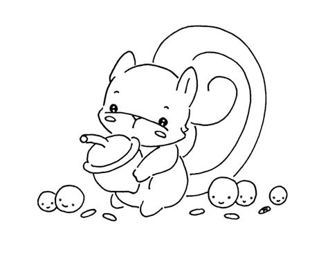cute squirrel coloring pages sliekje s cute stuff little squirrel digist rubber