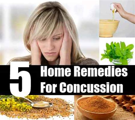 5 simple home remedies for concussion treatments