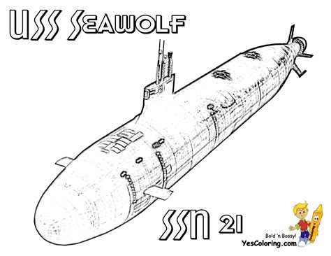 big boss coloring pages to print submarine submarine